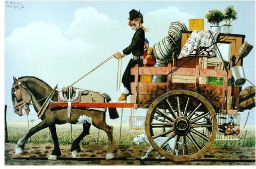 florencio molina campos pintores argentinos jaun carlos castganino gaucho paisanos galeria de arte pstica pinturas historia argentina la gazeta federal