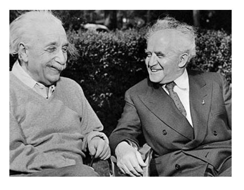 Einstein y Ben Gurion